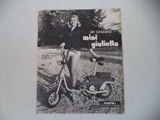 advertising Pubblicità 1968 PERIPOLI MINI GIULIETTA
