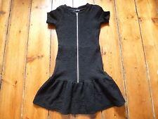 THE KOOPLES BLACK ZIP FRONT DRESS, 34, 6-8