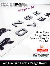GLOSS BLACK RANGE ROVER LETTERING BADGE L322 SPORT P38 FRONT REAR BOOT BONNET