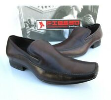 NEW Fiesso Aurelio Garcia Mens Brown Leather Loafer Shoes Style F16248 Size 8