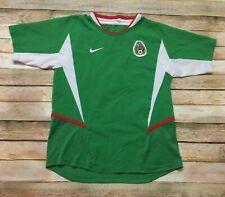 Mexico Nike Jersey Vtg 2003 2004 SOCCER FUTBOL Green Shirt Youth Medium Women XS