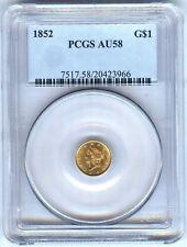 1852 GOLD DOLLAR PCGS AU58