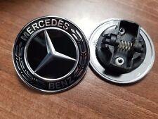 Original Mercedes Benz Emblem Stern Motorhaube schwarz, A0008171701 Neu
