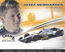 "2015 INDY 500 JOSEF NEWGARDEN CFH RACING CENTURY 21 INDYCAR 8 ""X 10"" HERO CARD"