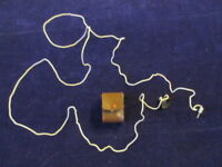 Vintage Transistor Radio Antenna in leather case w/suction stick on window    Sr