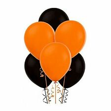 """15Pcs of 12"""" Balloons Black and Orange Assorted Colour all Occasions Decorations"""