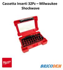 Kit cassetta Inserti 1/4 Milwaukee 32 pezzi Shockwave per avvitatori ad impulsi