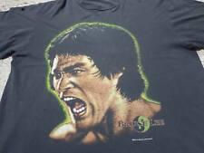 Rare Vintage 90s Bruce Lee Big Image Printed Design T Shirt Distressed tee