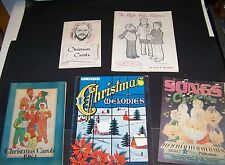 LOT OF 5  VARIOUS CHRISTMAS CAROLS - PIANO BOOKS  - SOME VINTAGE - SOFTCOVER