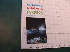 vintage Brochure: ONTARIO'S NIAGARA PARKS, niagara parks commission,