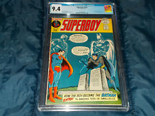 Superboy #182  CGC 9.4 NM (DC - 02/72) Great Cover! Giant! Minor Key!