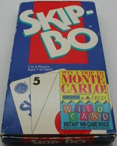 1995 Mattel SKIP-BO Card Game - 100% Complete in Original Box R12595