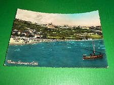 Cartolina Vasto - Spiaggia e Città 1957