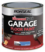 Ronseal Diamond Hard Garage Floor Paint 2.5L Blue Concrete stone