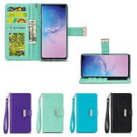 IZENGATE Wallet Flip Case PU Leather Cover Folio for Samsung Galaxy S10 Plus
