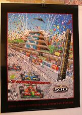 INDY 500 COLLECTORS POSTER 2004 LIMITED 88TH RUNNING CHARLES FAZZINO EXCELLENT