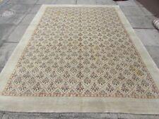 Vintage Traditional Hand Made Oriental  Wool Cream White Gabbe Carpet 297x220cm