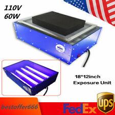 Small Screen Printing Exposure Unit 18x12 60w Silk Screen Printing Machine 110v