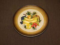 VINTAGE JAPAN IMPORT NAPCOWARE C5421 3D FRUIT PLATE BANANA GRAPES WALL PLAQUE