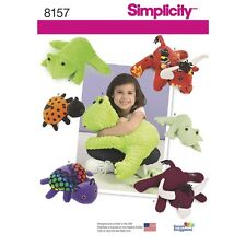 Sewing Pattern! Make Stuffed~Plush Fleece Toys! 2 Sizes Frog~Lady Bug~Bull! Kids