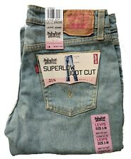 69a9a9ea57e Levi's Womens 518 Size 5 Medium Juniors SuperLow Boot Cut Stretch Bleach  #3470