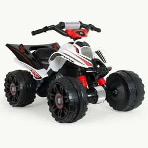 Injusa Mercedes Benz Electric Ride On Quad Childrens Kids The Beast 12V White 3+