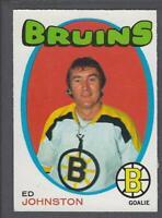 1971-72 O-Pee-Chee Boston Bruins Hockey Card #172 Ed Johnston