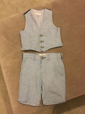 John Lewis Occasion Pinstripe Shorts And Waistcoat Age 3