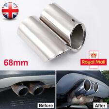 68mm Stainless Steel Exhaust Pipe Rear Muffler Tip Tail for VW Tiguan II 2017-18