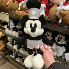 SHDR 11inch Steamboat willie Mickey Mouse knit Plush Disneyland Disney park