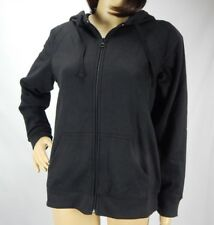 Women's St. John's Bay Active Black Zip Up Fleece Hoodie, Size Petite Small PS