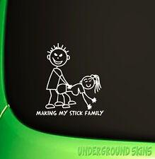 MAKING MY STICK FAMILY FUNNY JDM DRIFT EURO WINDOW VW VINYL DECAL CAR STICKER