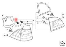 Genuine BMW E61N Wagon Seal Rear Light Side Panel OEM 63217186767