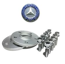 2 12mm Hub Centric Wheel Spacers 5x112 Mercedes 14x1.5 Chrome Lug Bolts 66.1 Hub