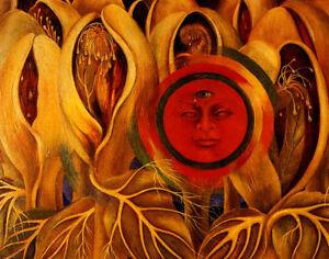 Frida Kahlo Sun And Life Canvas Print 16 x 20   #3426