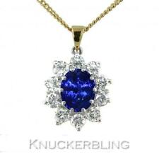 Cluster Natural Sapphire Fine Necklaces & Pendants