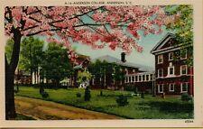 Exterior View Anderson College South Carolina SC Postcard C10