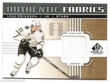 11/12 SP GAME-USED AUTHENTIC FABRICS GOLD 'R' JERSEY Loui Eriksson #AFLE