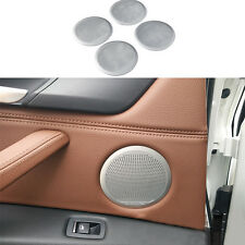 4pcs Stainless Door Speaker Audio Ring Decoration Trim FOR BMW X5 2014-2016