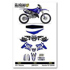 2006-2014 YAMAHA YZ 125 250 Graphics Kit  Seat Cover Motocross Graphics Enjoy