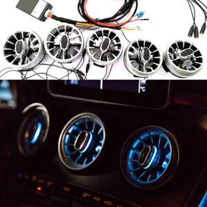 5x Illuminated led Light Air Vent purifier For Mercedes W205 C & GLC 2015-2021