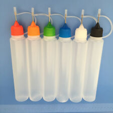30ml Plastic Squeezable Needle Bottle Liquid Dropper Sample Refillable Container