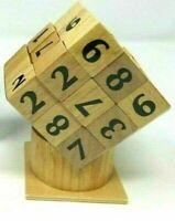 SUDOKUBE Game Solid Wood Sudoku Puzzle