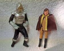 """Battlestar Galactica Mattel 1978 4"""" Cylon Centurion And Lt. Starbuck With Cape"""