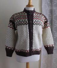 Plush Vintage Women's Nordic Norwegian Ski Cardigan Sweater Sz S M