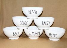 MAGENTA RAE DUNN Artisan Collection Lot 6 Melamine Bowls Summer Theme White Blk
