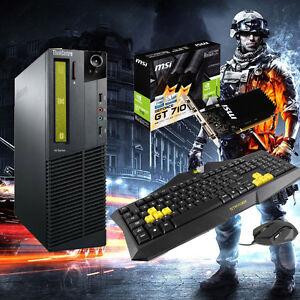 Budget Gaming PC Intel Core 2 2.8Ghz 4GB 160GB DVD-RW Windows 10 HDMI GT 710