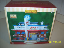 LEMAX PHIL'S DINER HARVEST CROSSING LIGHTED BUILDING IN BOX