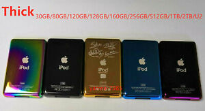 Thick 6 Colors Customizing Metal Back Case Housing Cover for ipod classic &video