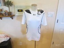 Under Armour men XL heatgear Adult white Compression Padded Football Shirt NWT